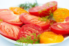 Salad from a tomato Stock Photography