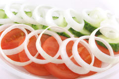 Salad with tomato Stock Photo
