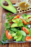Salad with tomato and avocado Stock Photos