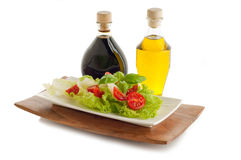 Salad with tomato and basil Royalty Free Stock Image