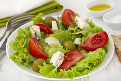 Salad tomato with cheese gorgonzola Royalty Free Stock Images