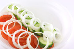 Salad with tomato and cucumber Royalty Free Stock Photos