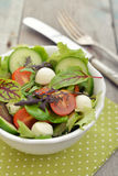 Salad with tomato and mozzarella cheese Stock Photos