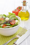 Salad with tomato and mozzarella cheese Royalty Free Stock Photography