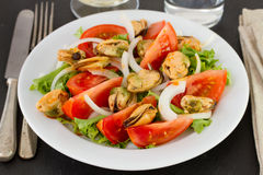 Salad with tomato and mussels Stock Photography