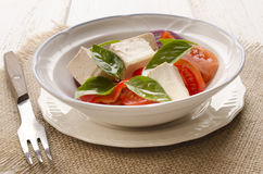 Salad with tomato and olive oil Royalty Free Stock Photo