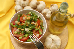 Salad with tomato and onion Royalty Free Stock Photo