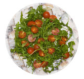 Salad with tomato and rucola Stock Images