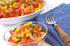 Salad with tomatoes Royalty Free Stock Image