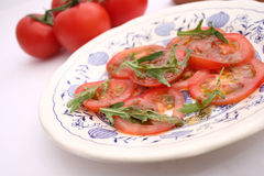 Salad of tomatoes Royalty Free Stock Images