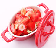 Salad of Tomatoes Royalty Free Stock Photos