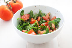 Salad with tomatoes and arugula Royalty Free Stock Photos