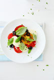 Salad with tomatoes and cheese Royalty Free Stock Photo