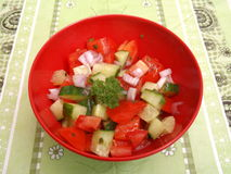 Salad of tomatoes Royalty Free Stock Photo