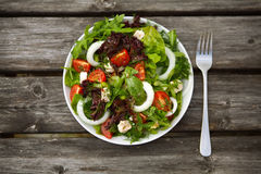 Salad with tomatoes and cucumbers. Royalty Free Stock Photography
