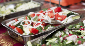 A salad from tomatoes and cucumbers. Royalty Free Stock Photography