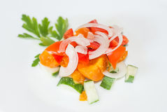 Salad of tomatoes and cucumbers Royalty Free Stock Image