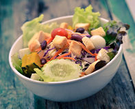 Salad with tomatoes and cucumbers Stock Photography