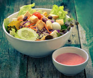 Salad with tomatoes and cucumbers Stock Images