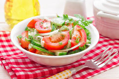 Salad with tomatoes and cucumbers Royalty Free Stock Photos