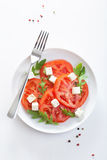 Salad with tomatoes and feta Stock Image