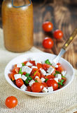 Salad with tomatoes, feta and parsley Stock Photography