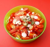 Salad of tomatoes Royalty Free Stock Photography