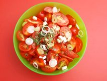 Salad of tomatoes Stock Images