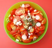 Salad of tomatoes Stock Photo