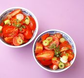 Salad of tomatoes Royalty Free Stock Image