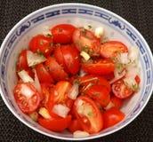 Salad of tomatoes Stock Photo