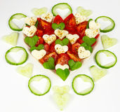 Salad with tomatoes Royalty Free Stock Photo