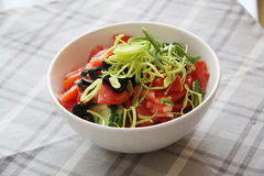 Salad of tomatoes and onions Royalty Free Stock Image
