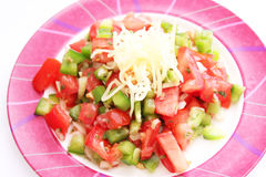Salad of tomatoes and paprika Stock Photo