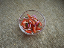 salad with tomatoes and red onions Royalty Free Stock Photography