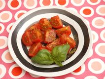 Salad of tomatoes Stock Image
