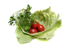 Salad and tomatos Royalty Free Stock Images