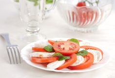 Salad with tomatos and mozarella Stock Photography