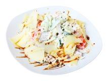 Salad with tongue Royalty Free Stock Image