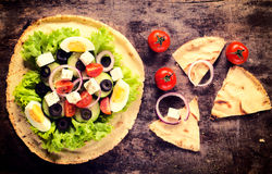 Salad on the tortilla Royalty Free Stock Photography