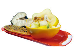 Salad with tropical fruits Stock Photos