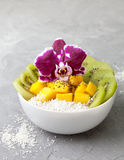 Salad of tropical fruits Royalty Free Stock Image