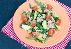 Salad with tuna and avocado Royalty Free Stock Images