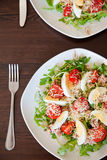 Salad with tuna and eggs Royalty Free Stock Photos