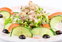 Salad of tuna fish Royalty Free Stock Images