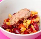 Salad with tuna fish Stock Image