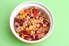 Salad with tuna fish Stock Images