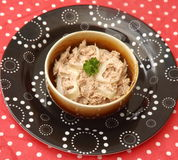 Salad of tuna fish Royalty Free Stock Photography