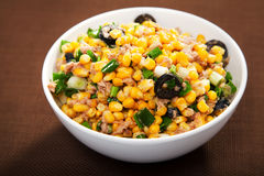 Salad with tuna fish and white corn Royalty Free Stock Photo