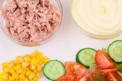 Salad with tuna and mayonnaise. Stock Photos